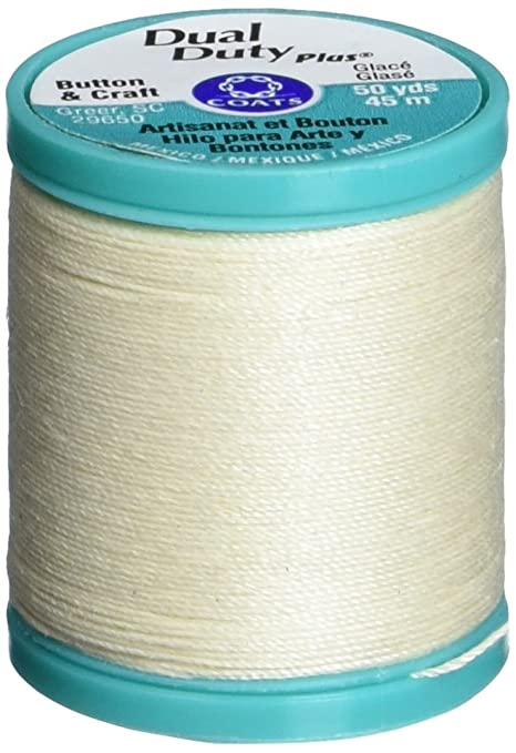 50-yard Cream Coats Thread /& Zippers Dual Duty Plus Button And Carpet Thread