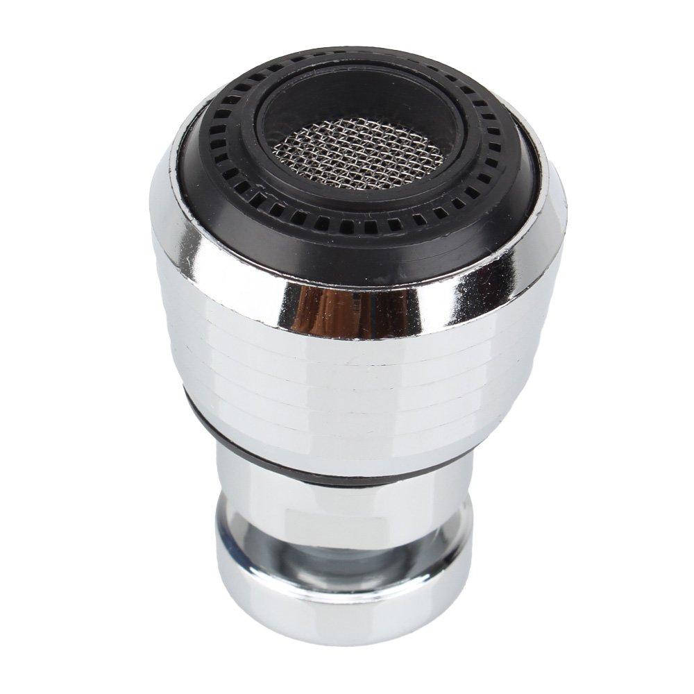 Rosca interna de ahorro de agua del aireador M22 giratorio 360 ° grifo difusor adaptador de filtro de boquilla ajustable de plata y negro BQLZR N11970