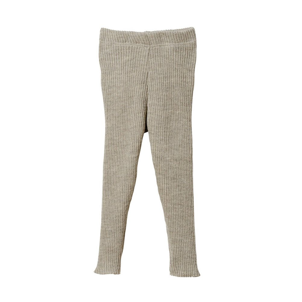 Disana Organic Merino Wool Knitted Leggings (2-3 Years, Light Grey) by Disana