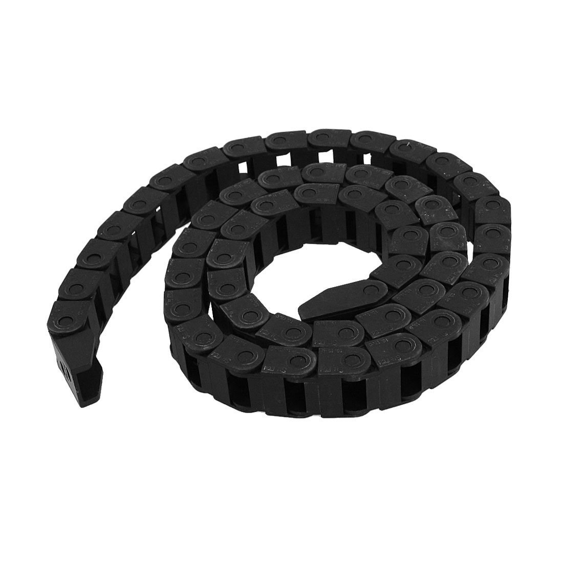 R SODIAL Trascinare catena Plastica nera di resistenza catena cavo portante 10 x 15mm per router di CNC Mill