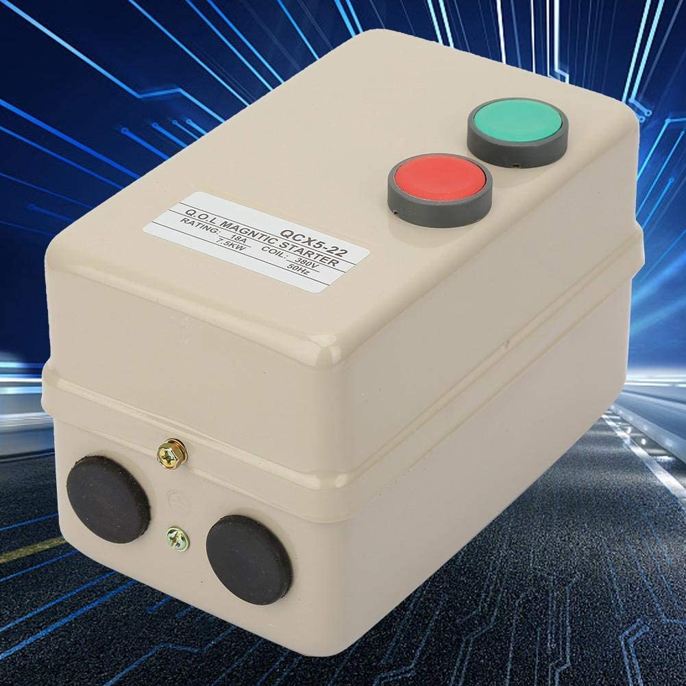 3 Phase Starter Synchronous with Motor AC380V 7.5KW Overload Over-sub and Equal Protecting Function KONGZIR Motor Magnetic Starter