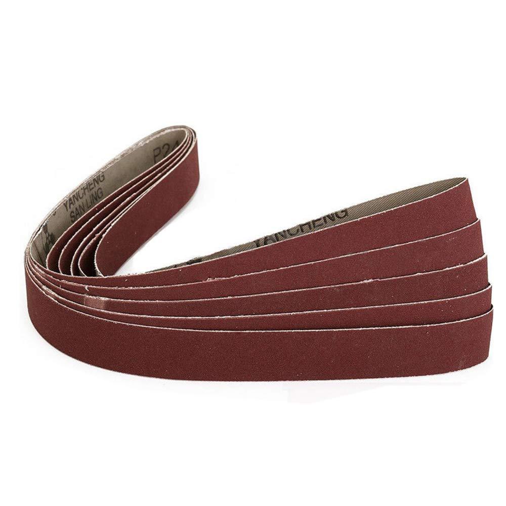 50mm x 1830mm Sanding Belts Aluminum Oxide Sanding Belts 320//400//600//800//1000 Fine Grits Metal Polishing Belt Sander Tool for Woodworking 5 Pack