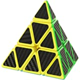 Twister.CK Pyraminx Pyramid Speed Cube Magic Cube Brain Teasers Puzzles with Carbon Fiber Sticker