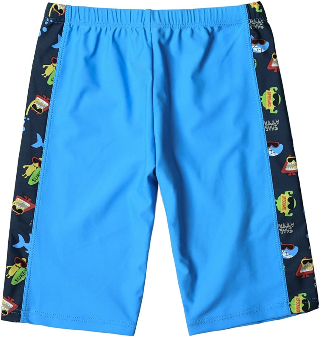 WESIZAR Boys Swimming Shorts UPF 50 Quick Dry Swimming Trunks Nylon Sun Protection Jammer for 6-8 Years Camouflage Blue
