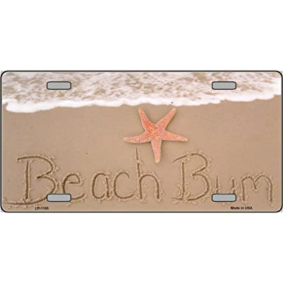 Smart Blonde Beach Bum In Sand Novelty Vanity Metal License Plate Tag Sign: Automotive