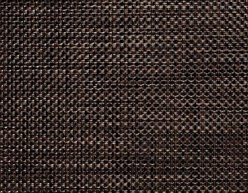 Chilewich Basketweave Small Rectangle Table Mat 12 x 16 Earth - Set of 4 (Basketweave Placemats)