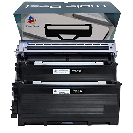 2PK Compatible Black Toner for TN350 TN-350 fits Brother HL2040 MFC7420