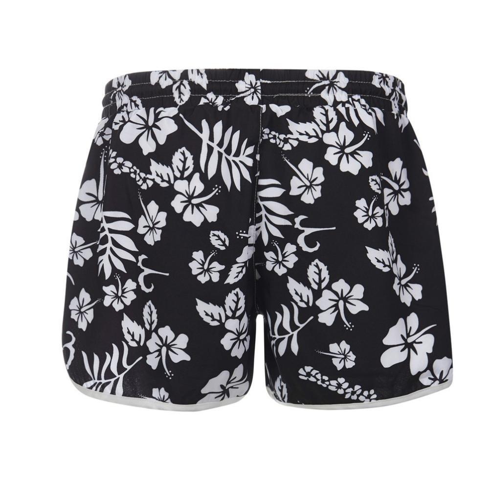 ♥-♥-♥-Pantalones Cortos para Mujer,RETUROM 2018 Mujeres de la Moda de Verano Floral Beach Short con Cordón Yoga de Entrenamiento Hot Shorts: Amazon.es: ...