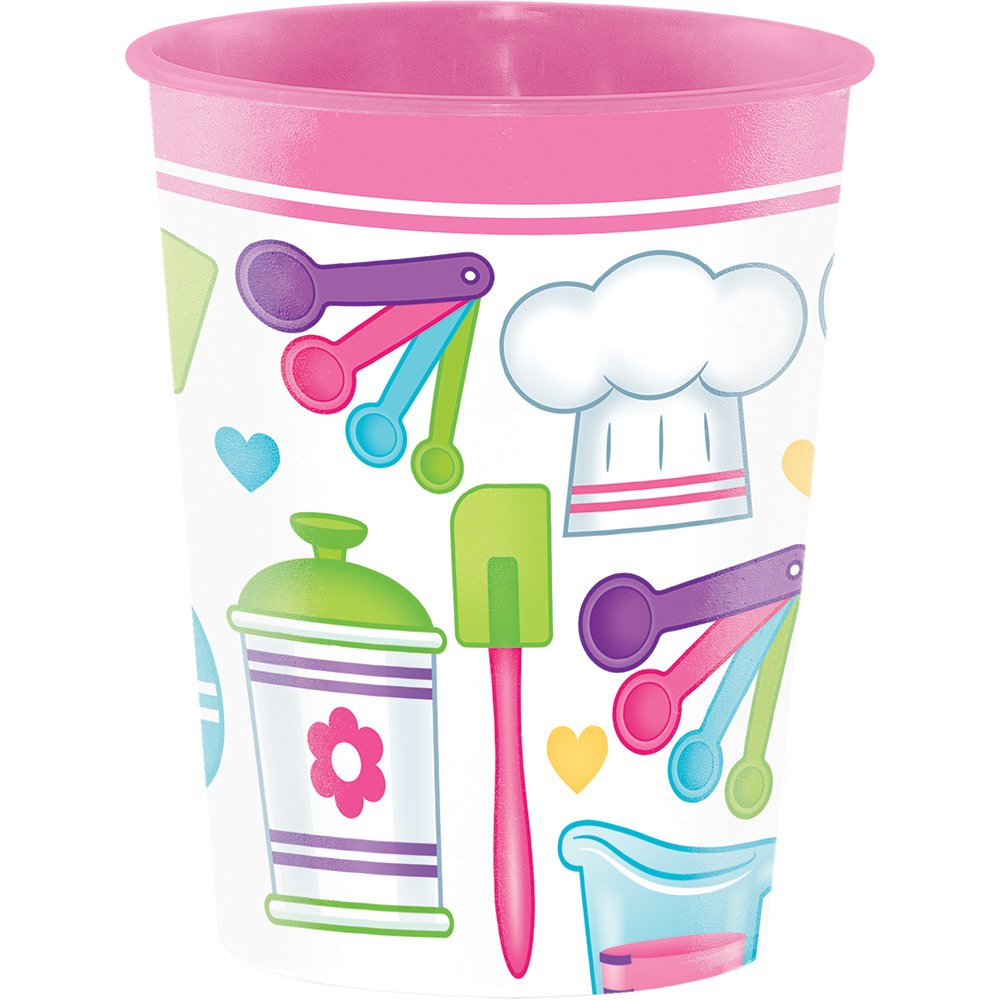 Creative Converting Plastic Keepsake Cups, Little Chef (12-Count)