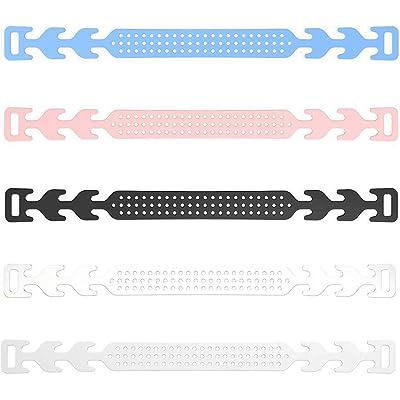 5 Salva Orejas para Mascarillas - Pack de Salvaorejas Rosa, Azul, Negro, Blanco y Transparente