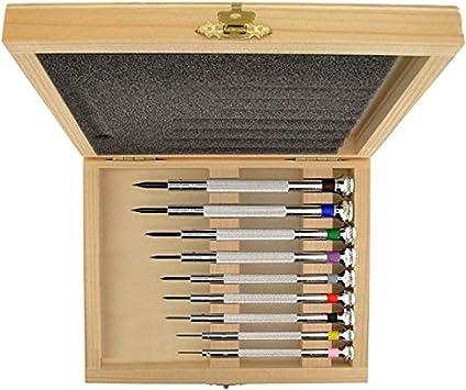7 + 2 Destornilladores para relojes S1 DELUXE + estuche de madera: Amazon.es: Bricolaje y herramientas