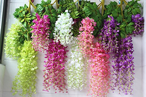 Mydio-6-Pack-318-Feet-Artificial-Flowers-Silk-Wisteria-Vine-Ratta-Hanging-Flower-for-Party-Wedding-Decor
