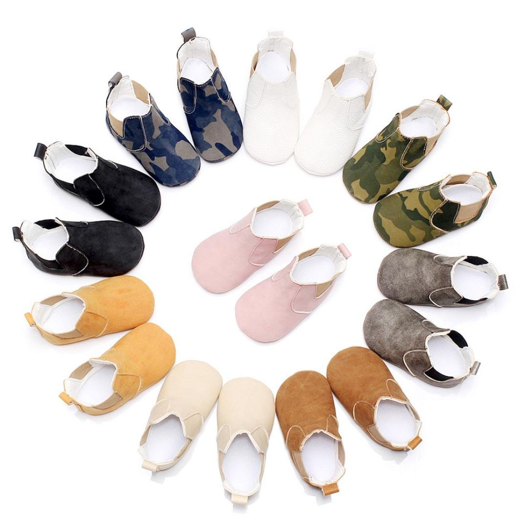 Staron Newborn Toddler Boys Wide Crib Shoes Soft Sole Anti-slip Boots Sneakers