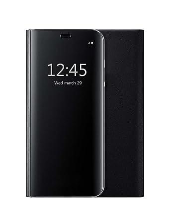 Amazon.com: iPhone 7 Funda iPhone 8 Funda con tapa espejo de ...