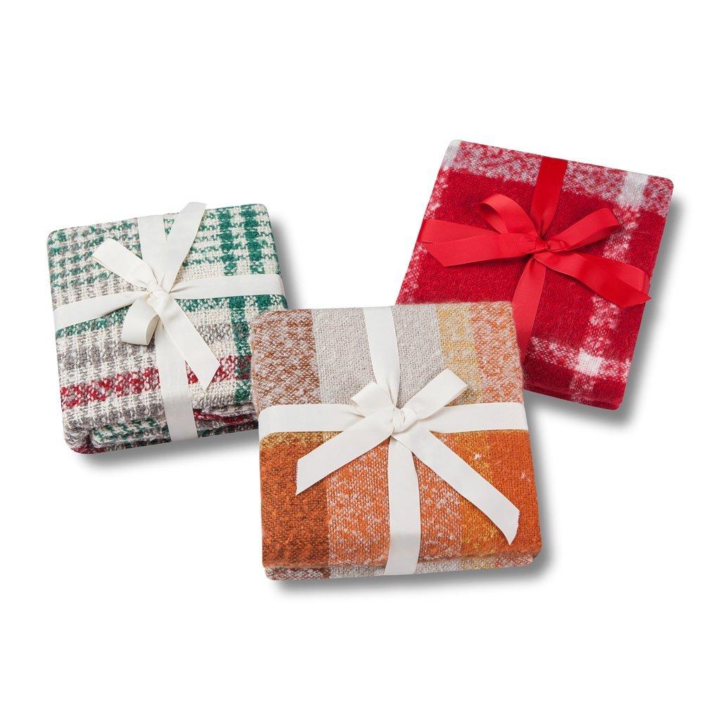 Soft Lap Plaid Throw Blanket-Soo Angeles 100/% Acrylic Woven Yarn Dyed Fringed Plaid Throw Blanket Bed Blankets Bedspread Soft Cozy Blanket ORANGE PLAID 50 W x 67 L Rise/&Shine Hometex Ltd.