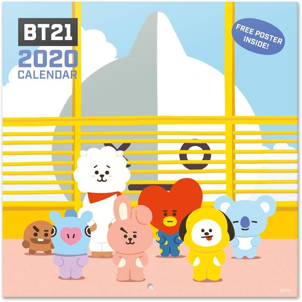 Bt21 Christmas 2020 Amazon.: ERIK   BT21 2020 Wall Calendar (Free Poster Included
