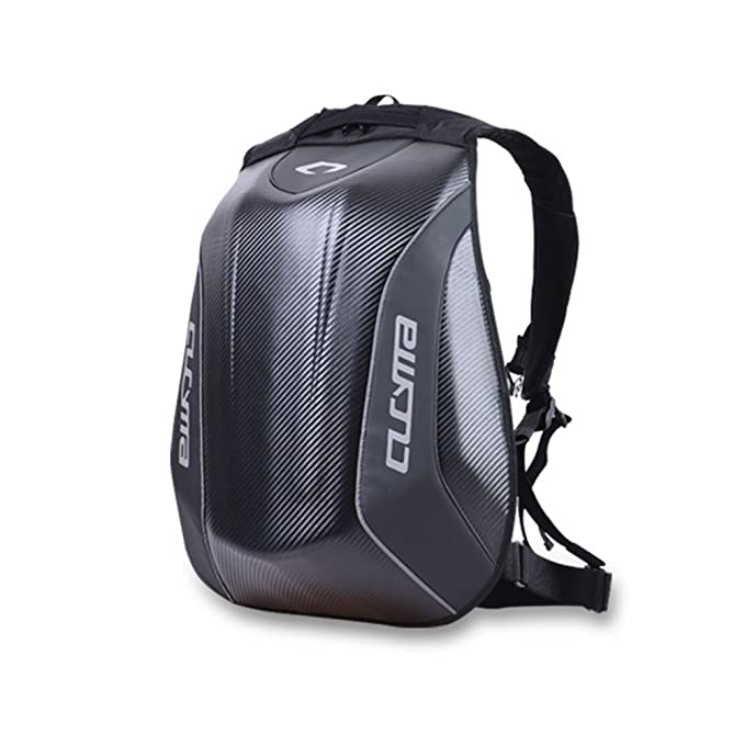 Amazon.com : Carbon Fiber Backpack Motorcycle Backpack Motocross Waterproof Motorcycle Helmet Bag Mochila Motorcycle Backpack : Sports & Outdoors