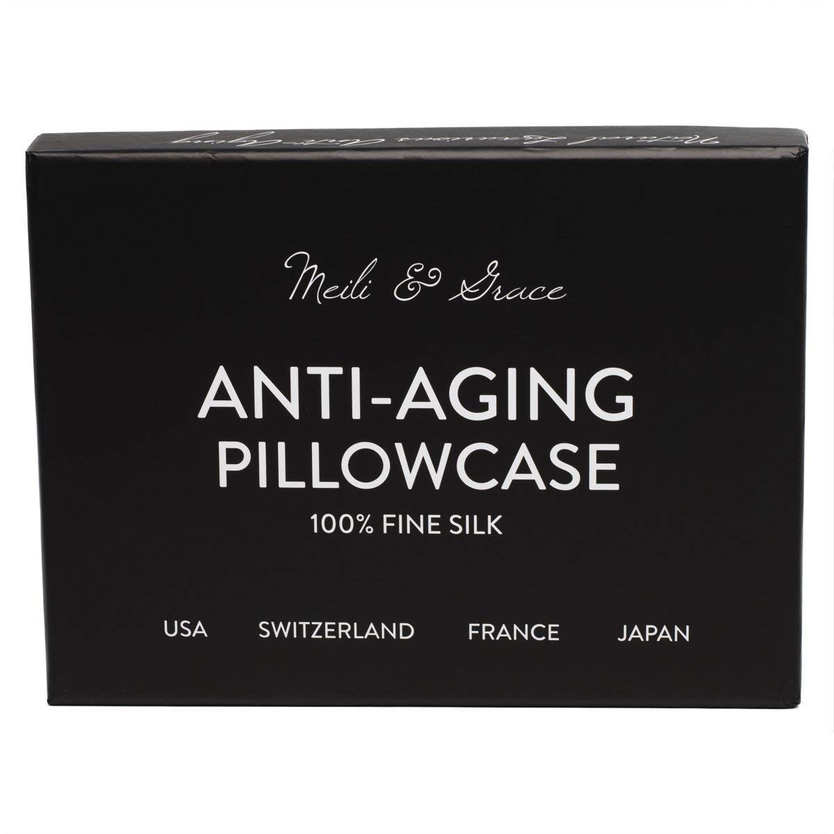 Anti Aging 100 Mulberry Silk Pillowcase By Meili Grace