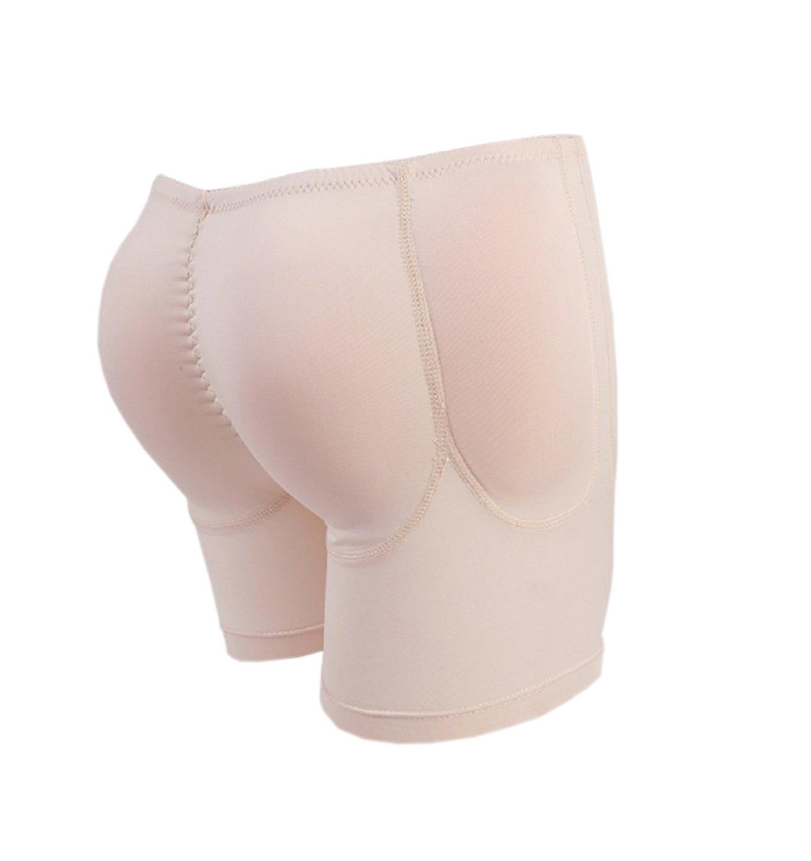 OULI Silicone Padded Rear Butt Hips Enhancer Shaper Girdle Underwear Crossdresser (Black, S) MaskShow M00015