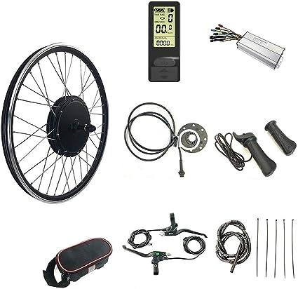 "48V 500W 1000W Electric Bike Conversion Kit 20/"" 24/"" 26/"" 700C Cycling Motor LCD3"