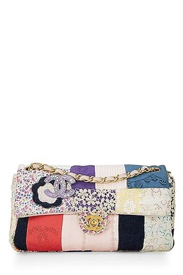 c5d120a54341 CHANEL Multicolor Patchwork Half Flap Medium (Pre-Owned): Handbags:  Amazon.com