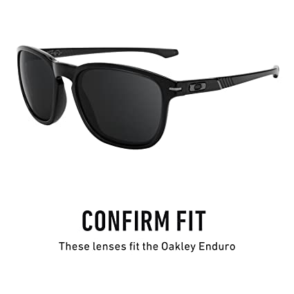 46a575a5f7 Amazon.com  Revant Polarized Replacement Lenses for Oakley Enduro Elite  Black Chrome MirrorShield  Sports   Outdoors