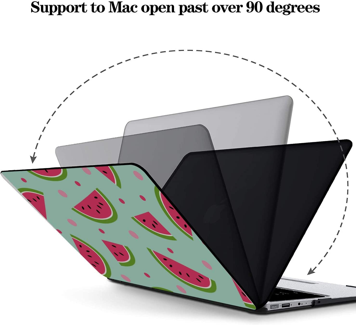 Protective MacBook Pro Case Summer Vintage Cute Fruit Watermelon Plastic Hard Shell Compatible Mac Air 11 Pro 13 15 Laptop Pro Accessories Protection for MacBook 2016-2019 Version