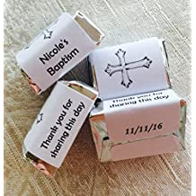 210 BAPTISM/CHRISTENING personalized candy wrappers, adhesive stickers, labels for your Hershey nuggets. Makes great party favors!