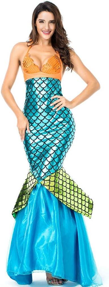 Baihui Disfraz de Sirena para Cosplay para Mujer, Vestido de Baile ...