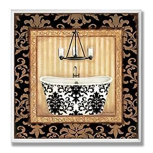 The Stupell Home Decor Collection Black Veranda Tub Bathroom Wall Plaque