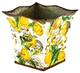 Michel Design Works Decorative Tin Bucket/Planter, Small, Lemon Basil