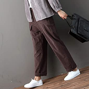 Sylar Pantalones Para Mujer Elegantes Cosiendo Estampado De Rayas ...