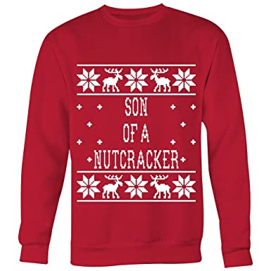 Son A Nutcracker Unisex Ugly Christmas Sweatshirt At Amazon Mens