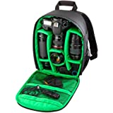 Camera Backpack - Kingwo 1PC Camera Backpack Bag Waterproof DSLR Case for Canon Nikon Sony PentaxSmall Compact Camera Backpack Bag for Photographer (Green)