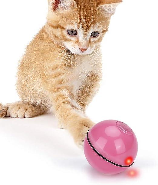 E-More Juguetes Gatos Pelotas, Juguete para Mascotas Bola de Gato Interactivo Rotación Automática Recargable USB con Luz LED, Gatito Interactivo de Juguetes para Gatos: Amazon.es: Productos para mascotas