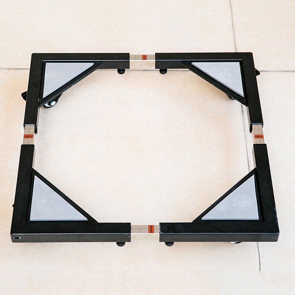 ALUP- 洗濯機のベースは、ブラケットの冷蔵庫のスタンドを移動することができます高めてステンレス鋼 (色 : ブラック) B07QW6GJBP ブラック