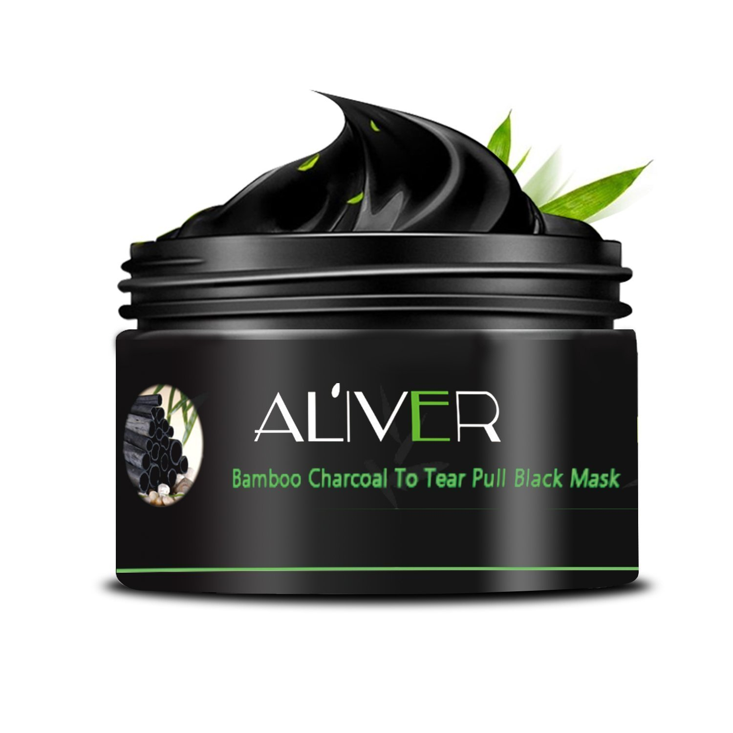 AL'IVER Charcoal Face Mask Black Mask Anti-Aging Peel Off Face Mud Deep Clean Activated Exfoliator 100ml in Jar AL' IVER Beauty