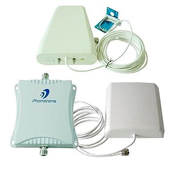 Phonetone 900mhz/1800MHz 70db GSM 2G Amplificador de señal teléfono móvil Booster Blanca Doble Frecuencia
