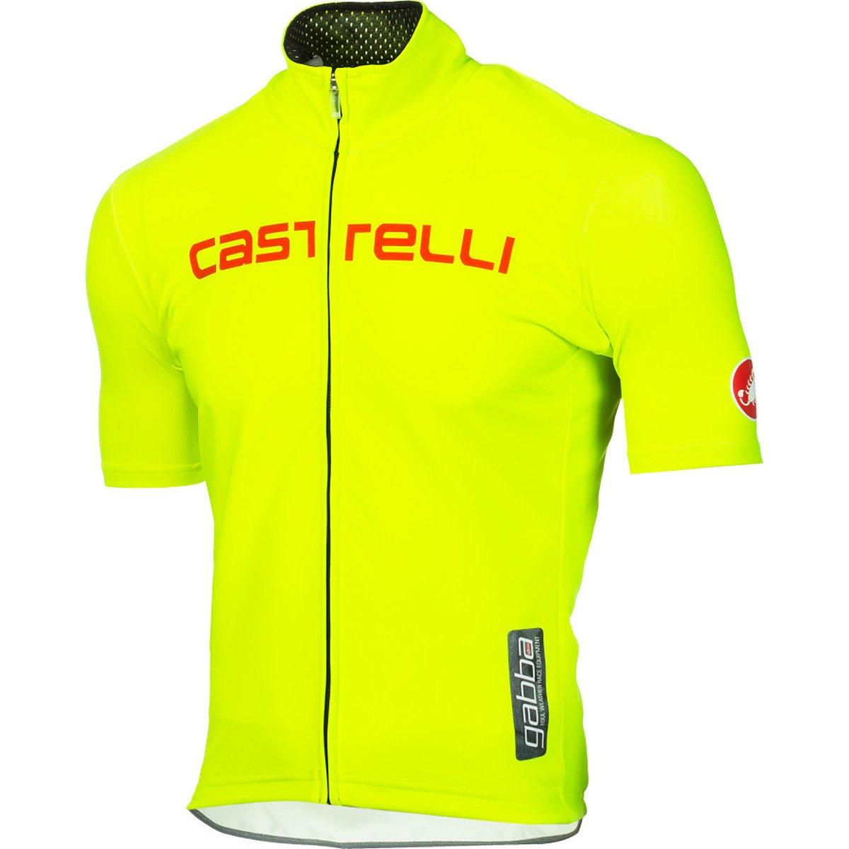 Castelli Gabba WS Rain Short Sleeve Jersey Yellow Fluo Reflective Silver 548fea6c0