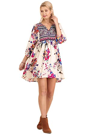 1ce0ccebb40 Umgee Women's Bohemian Tunic or Dress at Amazon Women's Clothing store: