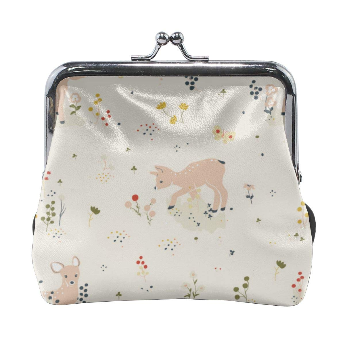 Exquisite Deer Fabric Credit Cards Buckle Coin Purse For Womens