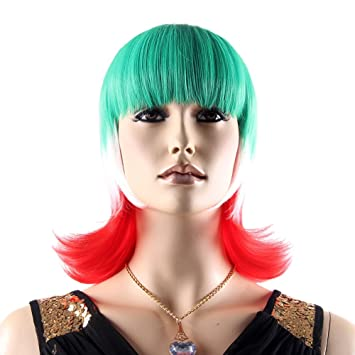 "Stfantasy Wigs for Women Short Straight Heat Friendly Synthetic Hair 13"" 128g with Bangs Wig"