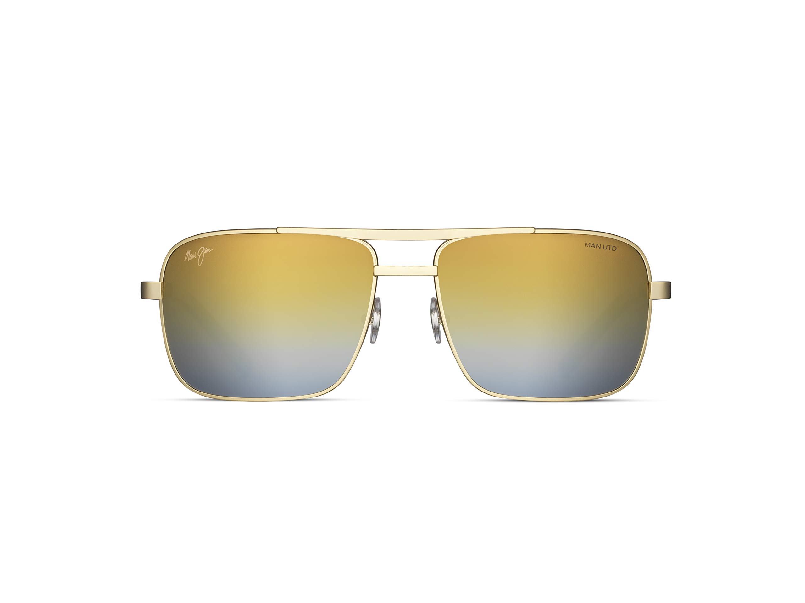 ویکالا · خرید  اصل اورجینال · خرید از آمازون · Maui Jim Men's Polarized Aviator Sunglasses, Shiny Gold w/Man Utd, Medium wekala · ویکالا