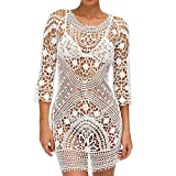 Twinsmall Sexy Women Ladies Beach Cover up Crochet Swimwear Dress Bathing Suit Beach Backless Cover Up
