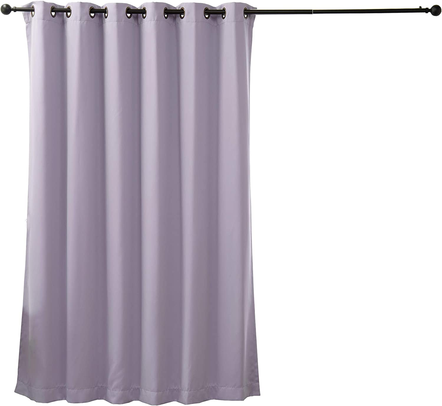 Best Home Fashion Wide Width Thermal Insulated Blackout Curtain - Antique Bronze Grommet Top - Lilac - 80