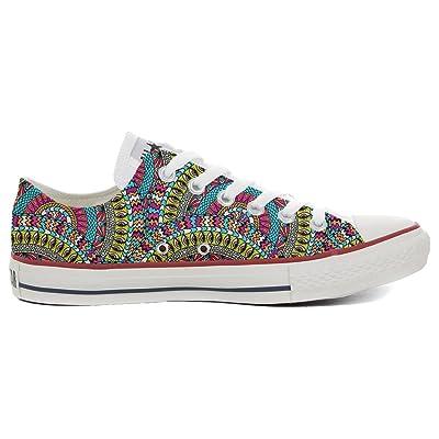 mys Converse All Star Slim chaussures coutume mixte adulte (produit artisanalPersonnalisé) Mexican Texture