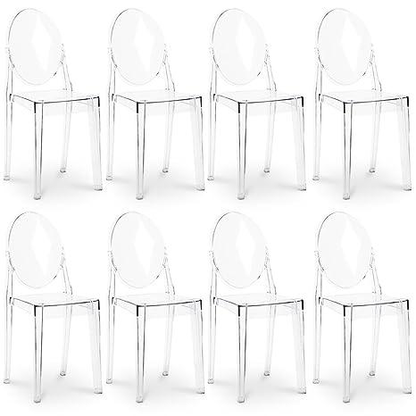 Sedie Victoria Ghost ispirate a Philippe Starck x8: Amazon.it: Casa ...