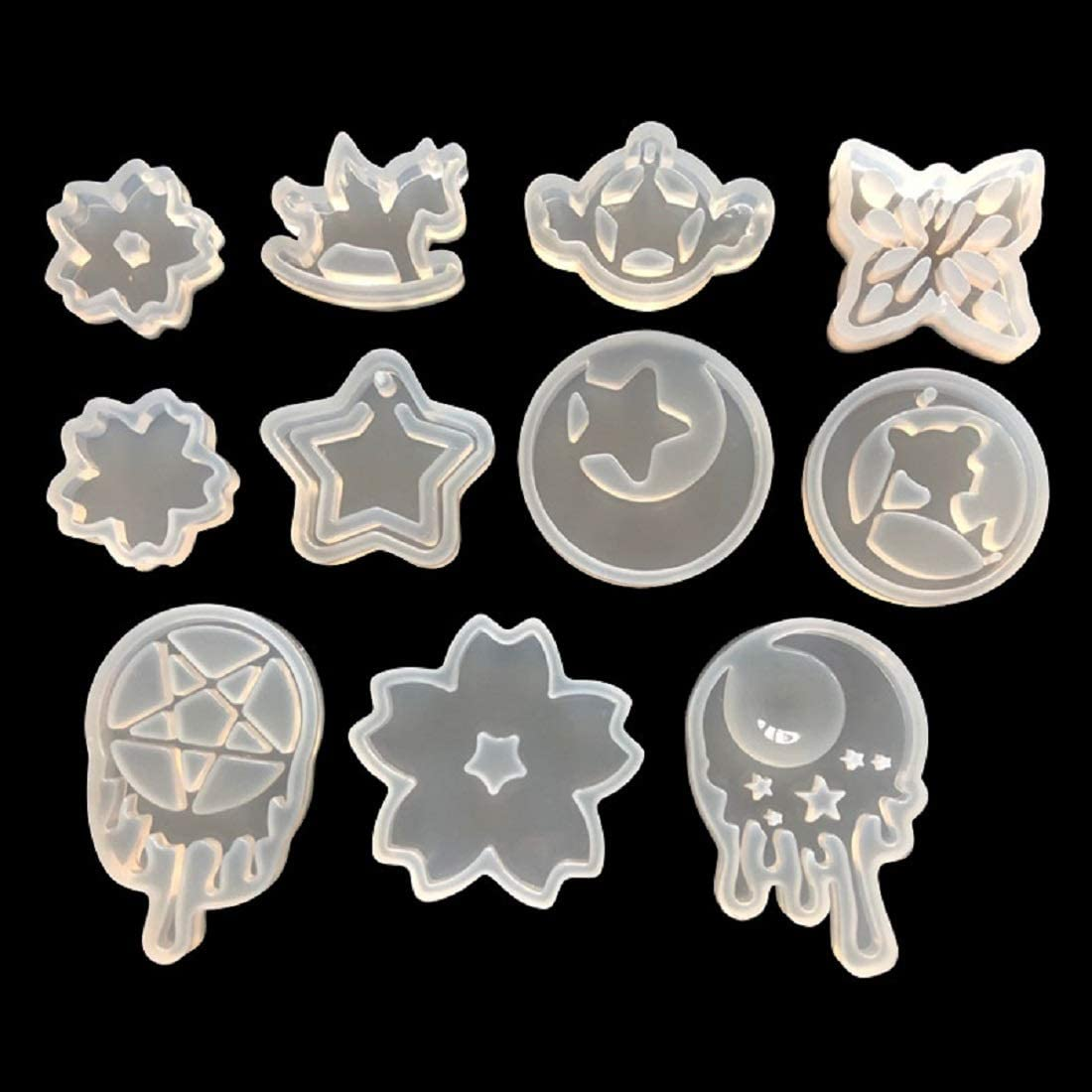 Fondant Mold 731 Jewelry Mold Resin /& Clay Mold Silicone Corner Scroll Mold