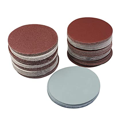 "20pcs 3/"" 75mm Hook Loop Sander Backing Pad 400 Grit Sanding Disc Paper Pads"