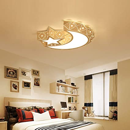 Ceiling Lights Led Dimmable Light Wall Modern Contemporary Moon Stars Designs Beautiful
